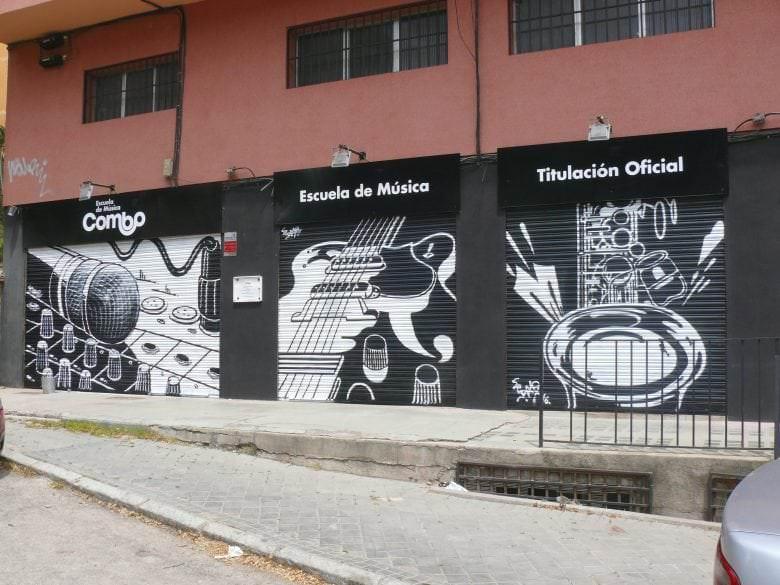 Mural para escuela de música Combo