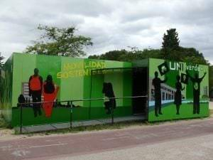 Rotulación a mano en Madrid - Mural para la Universidad Complutense de Madrid