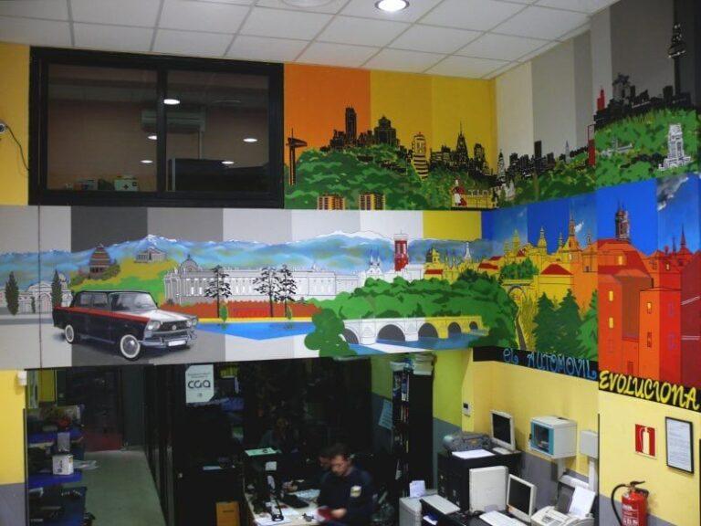Mural - Decoración de Interior: Tienda de recambios