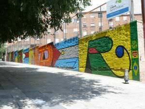 Graffiti infantil - Mural Colegio Snta. Cristina Madrid