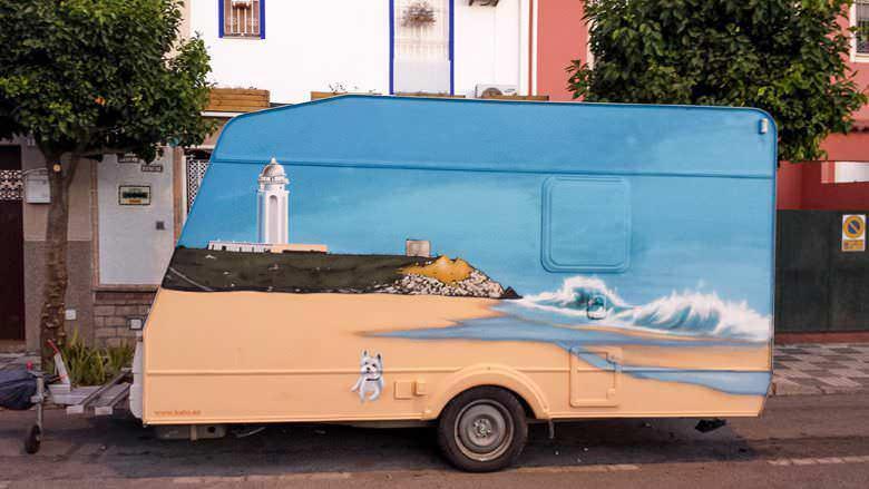 Graffiti sobre Caravanas