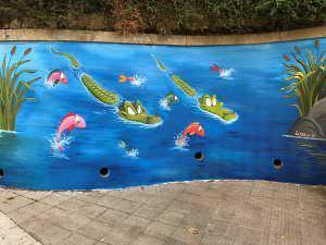 Graffitis en colegios y guarderias - Murales en colegio Compañía de María (Vigo)