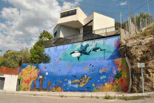 Rotulación a mano en Barcelona - Murales artisticos