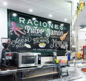 Rotulación a mano en Zaragoza - Bar-Restaurante EL CERRO (Huesca)