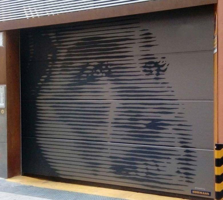 Decoración de Persiana de garaje - mural