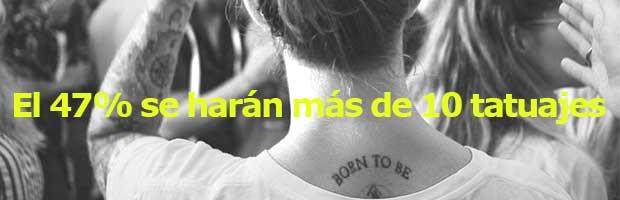 El 47% se harán más de 10 tatuajes en su vida