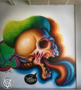 Graffiti mural - Mural Universidad Politécnica de Valencia, Poliniza 2016.