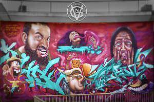 Graffiti mural - Mural Meeting of Styles 2017 Alemania (Wiesbaden)