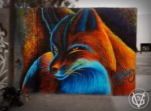 Graffiti mural - Graffiti zorro