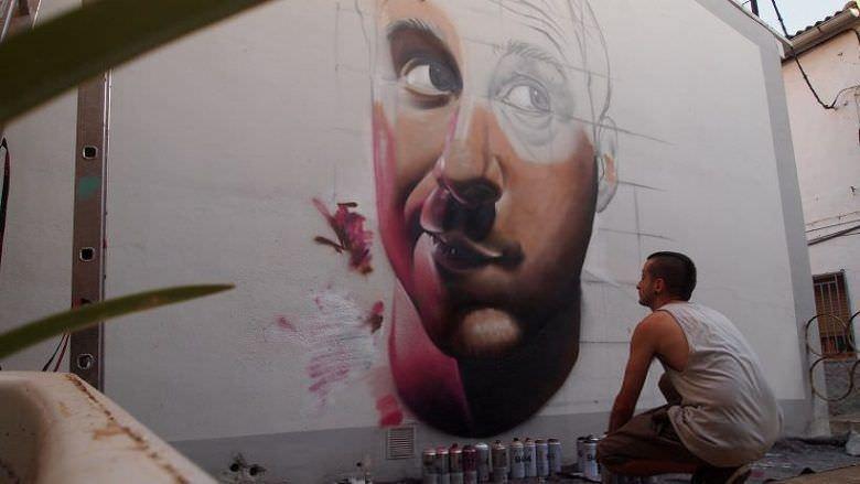 Mural Muere Despacio en Alfamén