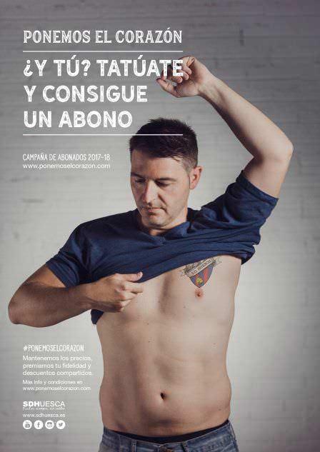 Cartel captacion de socios campaña tatuaje sd huesca