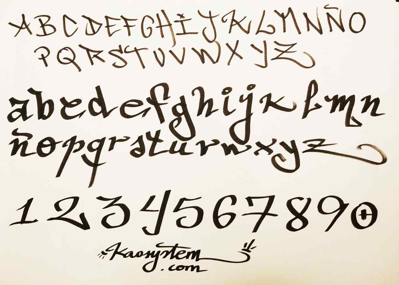 abecedario letras de graffiti