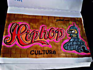 Graffitis - Bender futurama