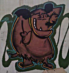 Graffiti infantil - Patan,dibujos autos locos