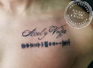 Tatuajes con sonido (SoundWave Tattoo) - Tatuaje sonoros con frase