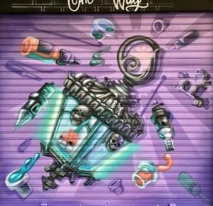 Graffiti locales comerciales - Persiana estudio tattoo