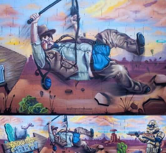 Mural estilo Oeste