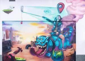 Rotulación a mano en Valencia - Graffiti estilo libre