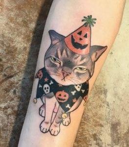 Tatuajes en el antebrazo - Tatuaje Gato enfadado :D