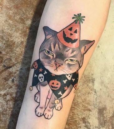 Tatuaje Gato enfadado :D