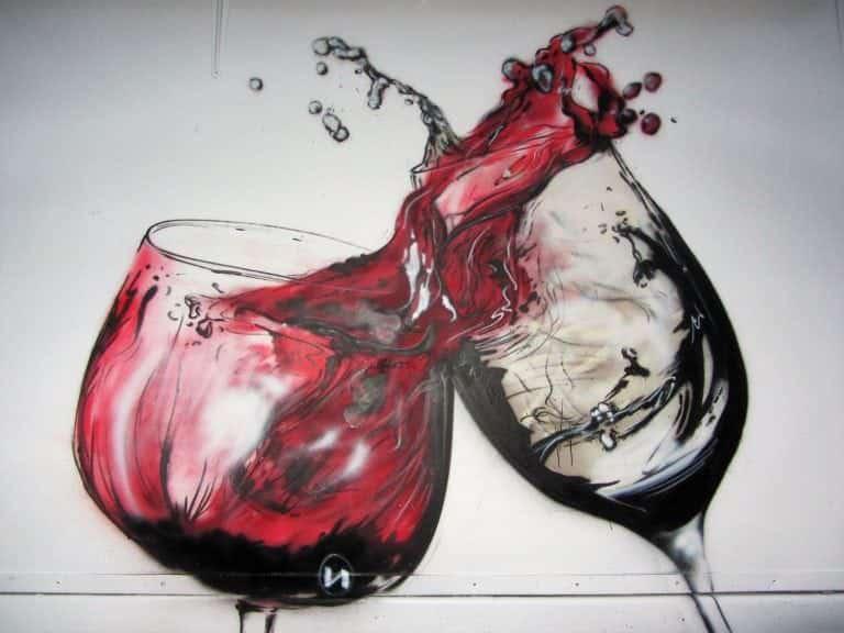 Graffiti copas - Un brindis por la vida