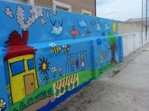 Graffiti infantil - Mural escolar
