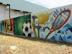 Graffitis de fútbol - Mural deportivo