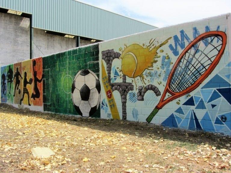 Mural deportivo