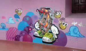 Graffiti infantil - Graffiti cassete casa joven