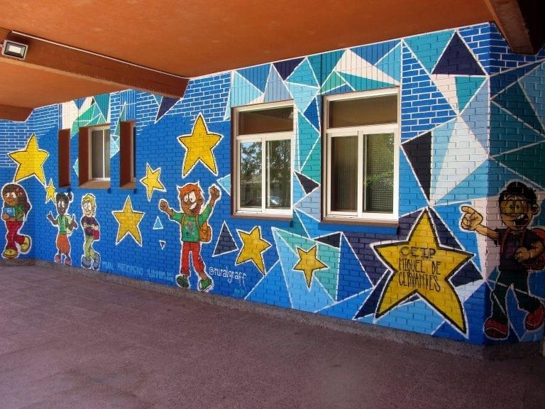 Graffiti Infantil: Colegio Navalmanzano mural