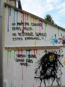 Graffiti comercial en Salamanca - Graffiti Bob Marley