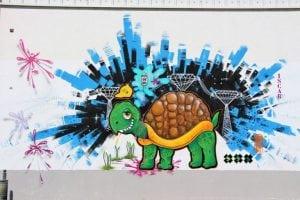 Graffitis - Mural tortuga