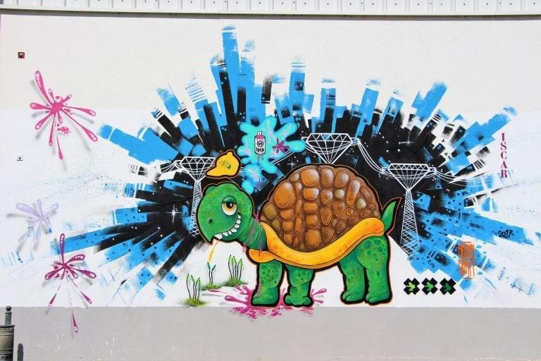 Mural tortuga (Graffiti)