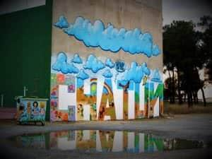 Graffiti infantil - Graffiti: Chatún Mural en Frontón