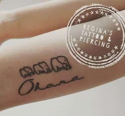 Ohana Tattoo en el brazo