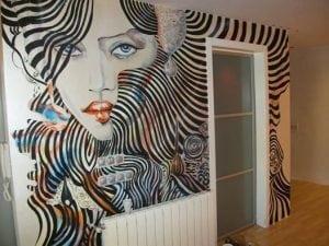 Graffitis pared del cuarto - Decoración de habitación con un mural