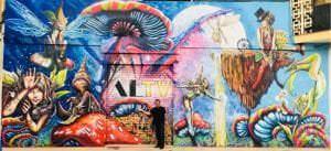Graffiti locales comerciales - Mural fantasía ALTV