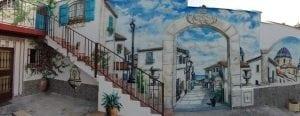 Grafiteros de Valencia - Mural Trampantojo Casas