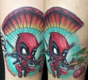 Estudios de tatuajes en Valencia - Tatuaje deadpool neotradicional
