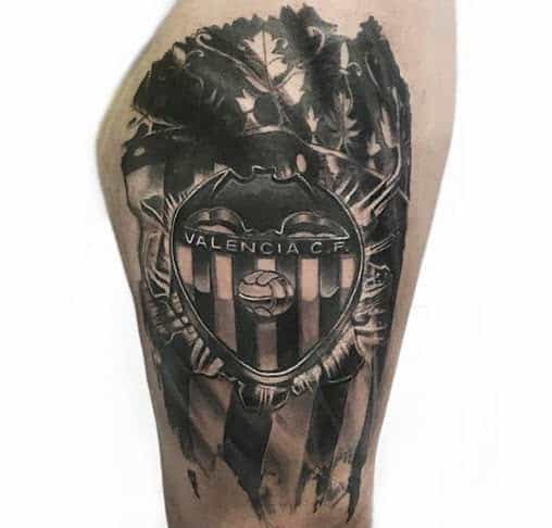 Tatuaje escudo Valencia Club de Fútbol