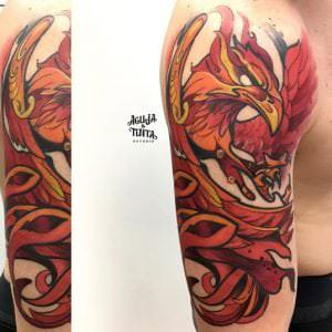 Tatuajes de Animales - Ave Fenix Tattoo