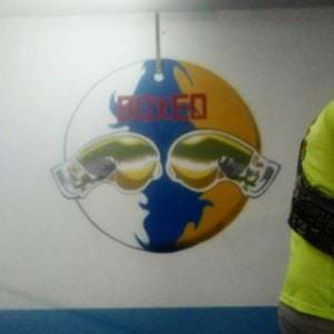 Graffiti Comercial en Las Palmas de Gran Canaria - Mural: Logo escudo boxeo Pedro Miranda
