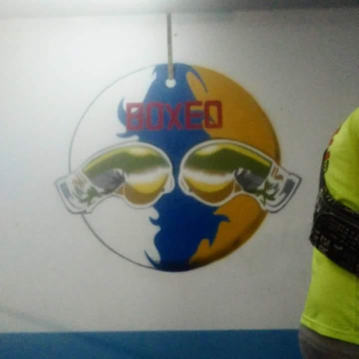 Mural: Logo escudo boxeo Pedro Miranda