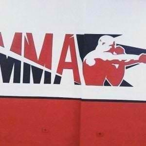 Rotulación a mano - logotipós gimnasio de mma y jiu jitsu