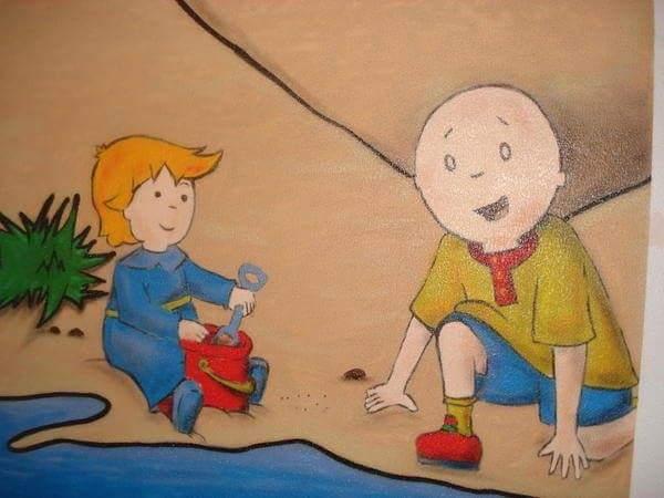 Habitación con dibujo infantil