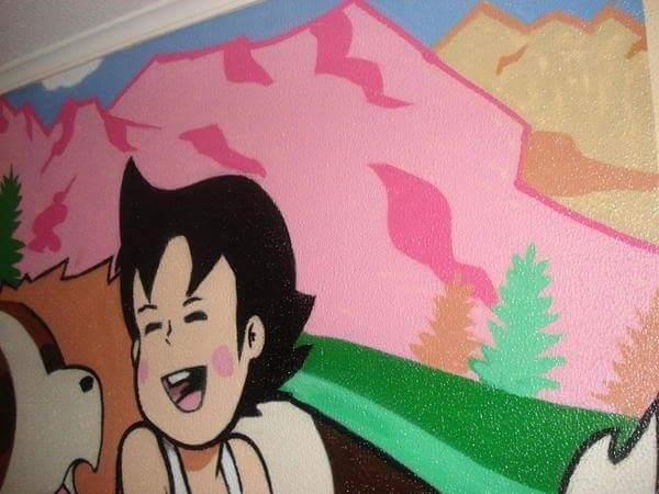 Mural de habitacion infantil Heidi