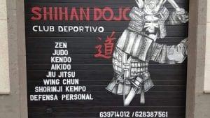 Graffiti Comercial en Las Palmas de Gran Canaria - puerta de garage dojo