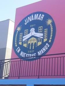 Graffiti comercial en Santa Cruz de Tenerife - Logotipo 3 x 3