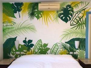 Graffiti mural - Cabecero de cama.