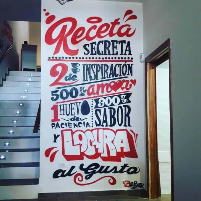 Decoración bar con graffiti